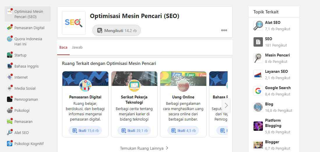 topic seo di quora indonesia