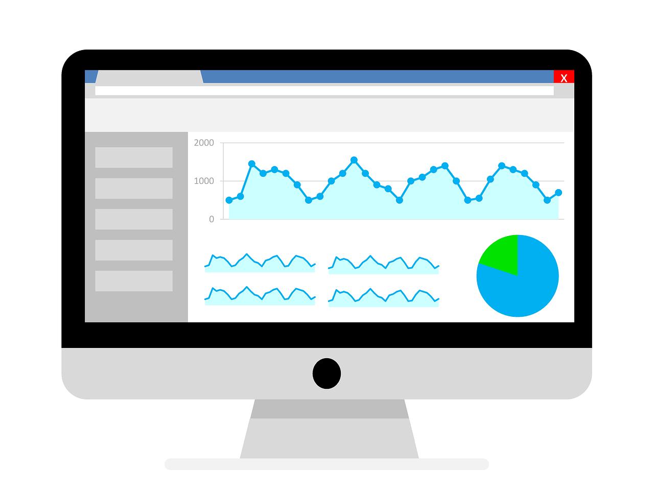 monitor yang menampilkan dashboard analytics