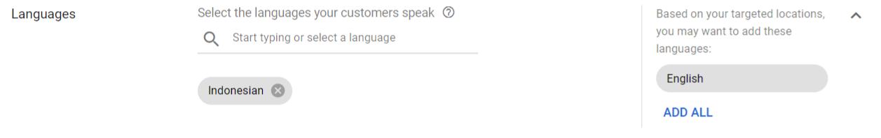 pengaturan bahasa gdn