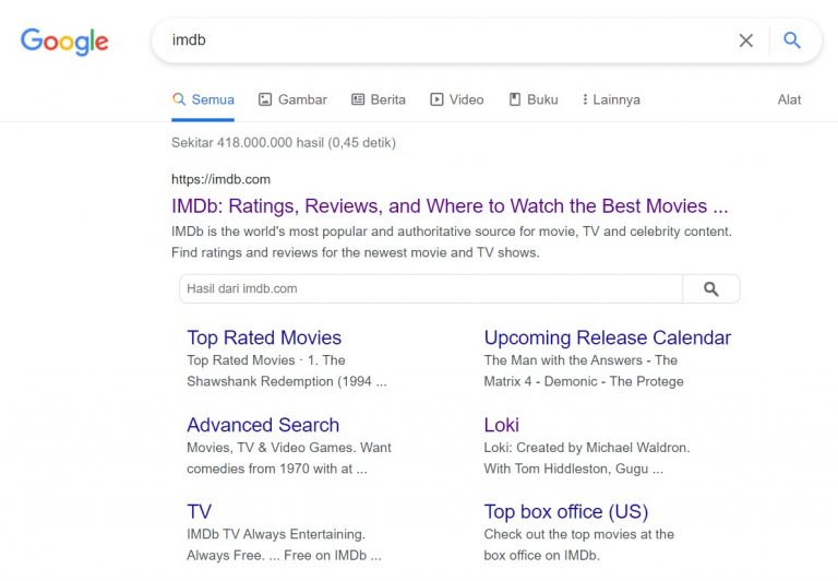 search result imdb